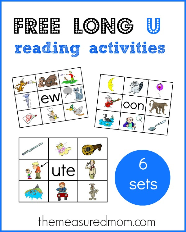 Learn long u word families with these free printables! - The Measured ...