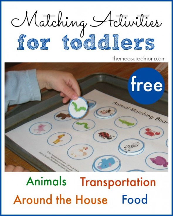 Printable Free Matching Activities For Toddlers - The Measured Mom