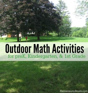 Outdoor Math Ideas for Kids Ages 3-7