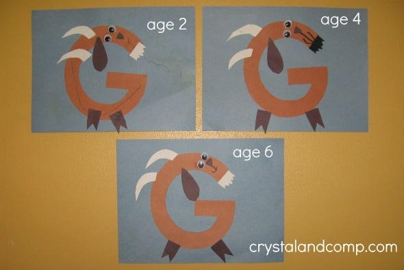 letter g crafts simple letter g crafts for toddlers and preschoolers the 22861 | G craft 2