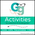 Letter G Activities the measured mom 150x150 How to teach the alphabet to preschoolers