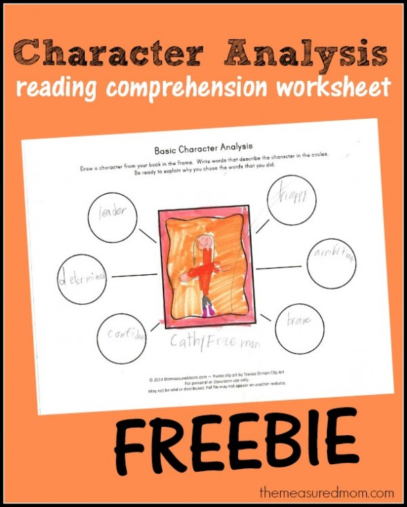 Character traits comprehension worksheet 2nd grade