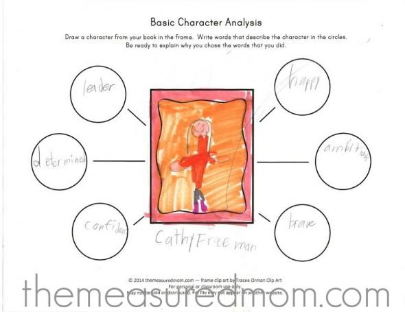 Character Analysis Worksheet - The Measured Mom