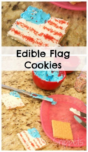 4th of July craft - edible flag cookies