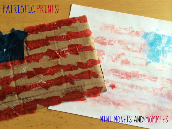 4th of July crafts - flag prints