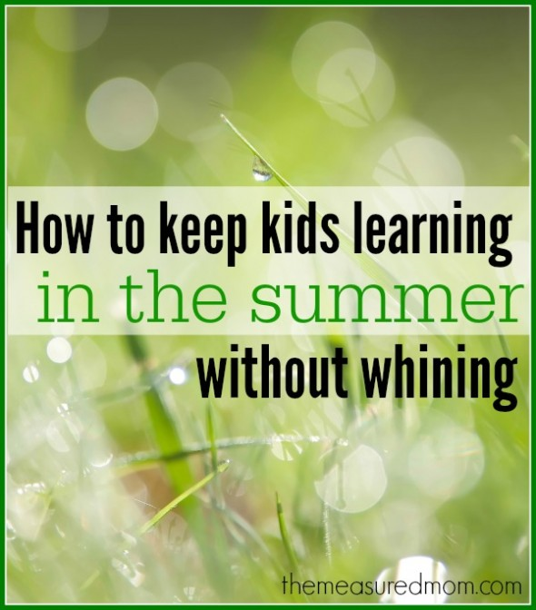 keep kids learning in the summer 590x672 How to organize summer learning activities for kids