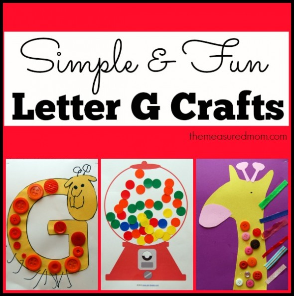 Check out this fun and simple crafts for toddlers and preschoolers - all featuring the letter G.