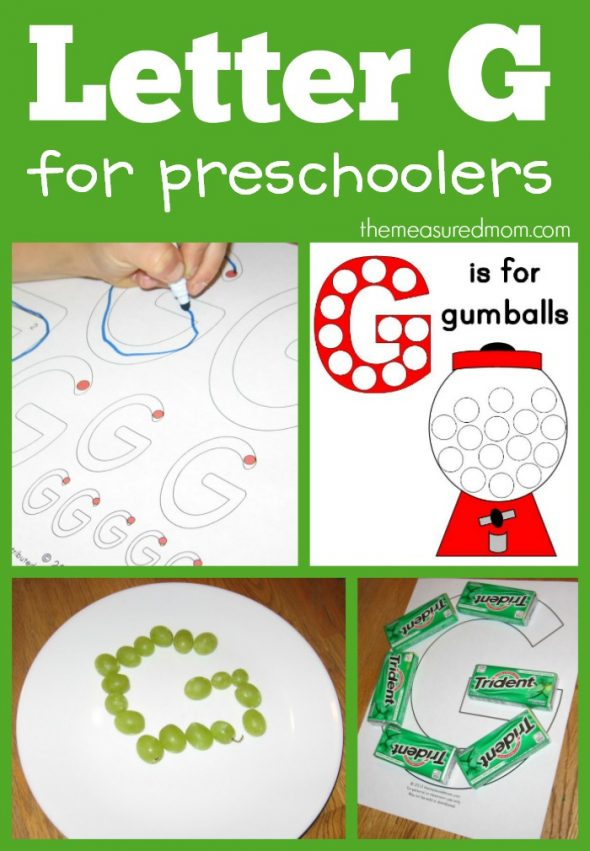 Fun ways to make the letter G - The Measured Mom