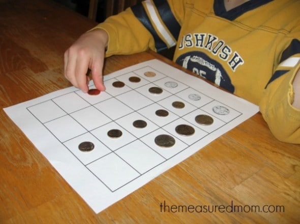 make a graph with coins