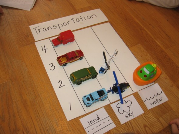 make a graph using toys