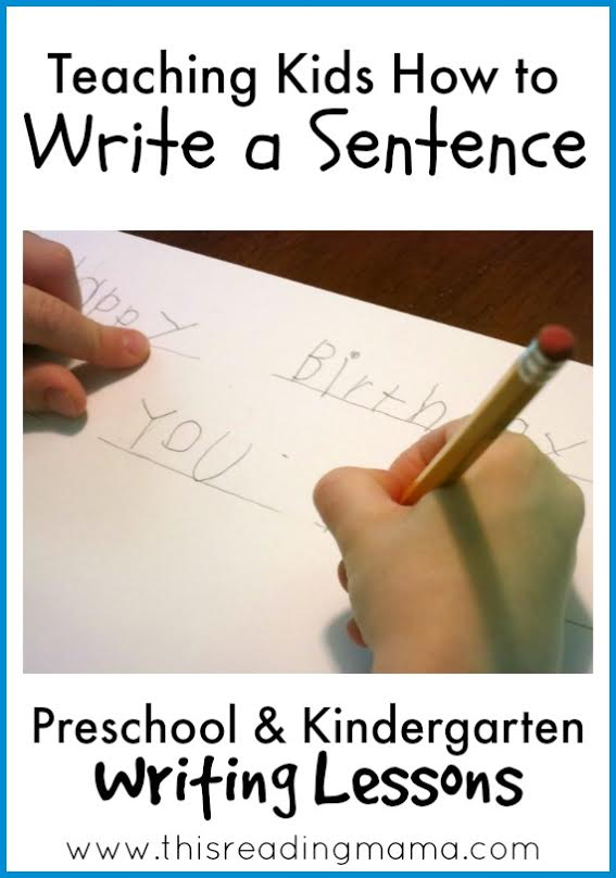 Teaching Children To Write A Sentence The Measured Mom