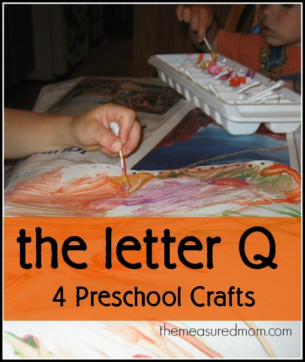 We had fun creating these four letter Q crafts for preschoolers.