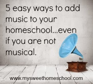 add music to homeschool