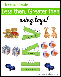 less than greater than with toys