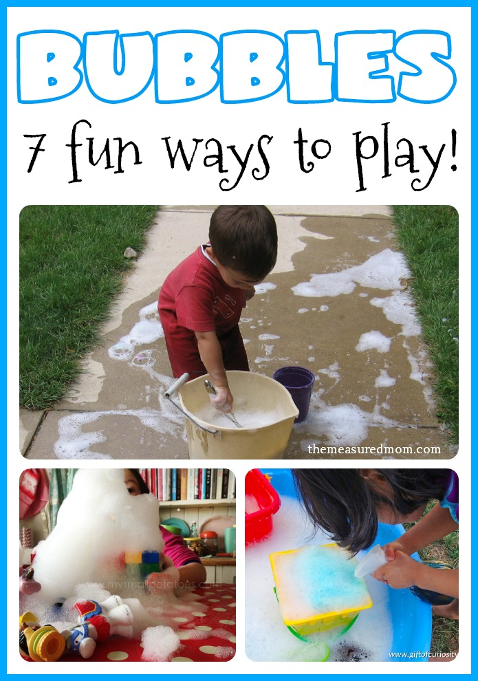 7 Fun Activities For Toddlers Using Bubbles The