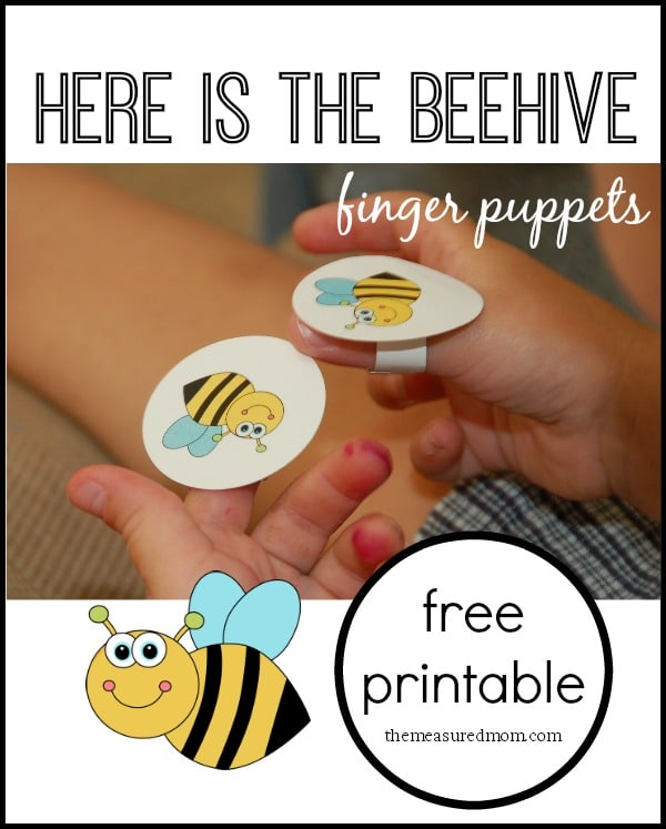 Here is the beehive rhyme for kids with finger puppets for Bee finger puppet template