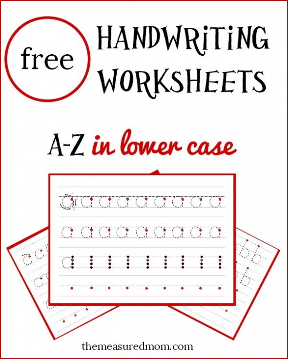 free a-z handwriting worksheets in lowercase