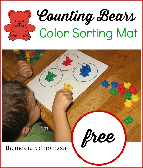 Teach colors to toddlers with counting bears (free color ...