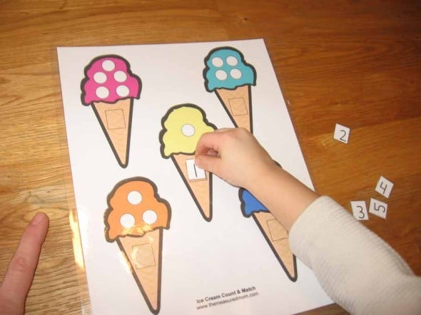 ice cream dot counting