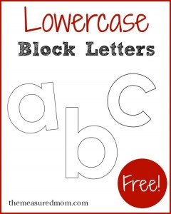 lowercase block letters