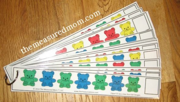Free Bear Counter Pattern Strips For Preschoolers on Printable Color Blue Worksheets Preschool