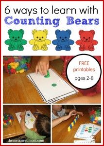 ways to learn with counting bears