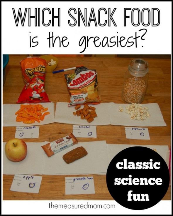 which snack food is greasiest