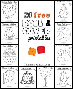 20 free roll and cover printables