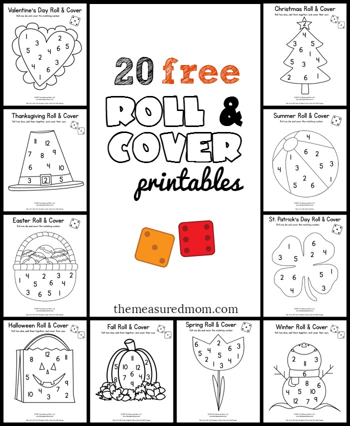 Looking for some fun roll and cover games for preschool and kindergarten? Grab this free set of seasonal games!