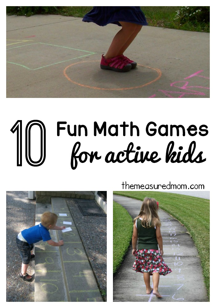 10 fun math games for active kids