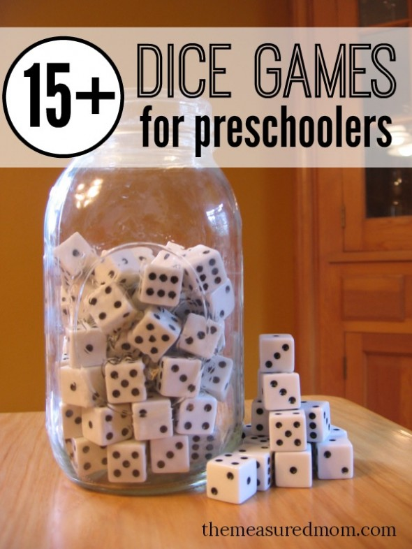 Dice Games For Preschoolers The Measured Mom