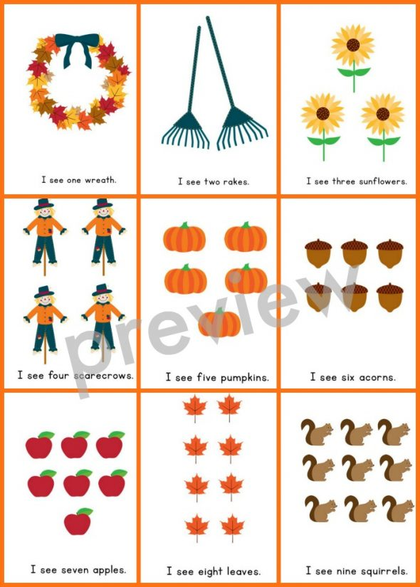 fall counting book 4