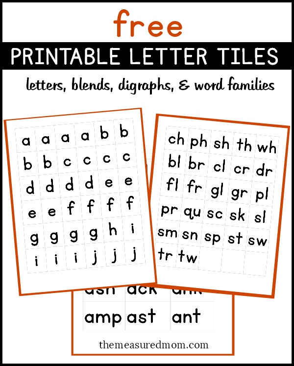 Letter Cards For Making Words Printable
