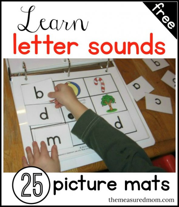 Learn letters and sounds with 25 FREE picture mats! - The Measured Mom