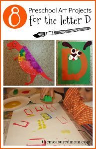 preschool art projects for letter D