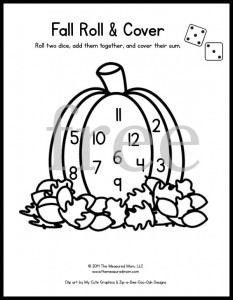 Looking for some fun math games for preschool and kindergarten? Grab some dice and markers and play these free printable roll and cover games for every season of the year! For 1 or 2 dice.
