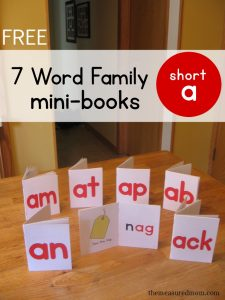 word family readers short a