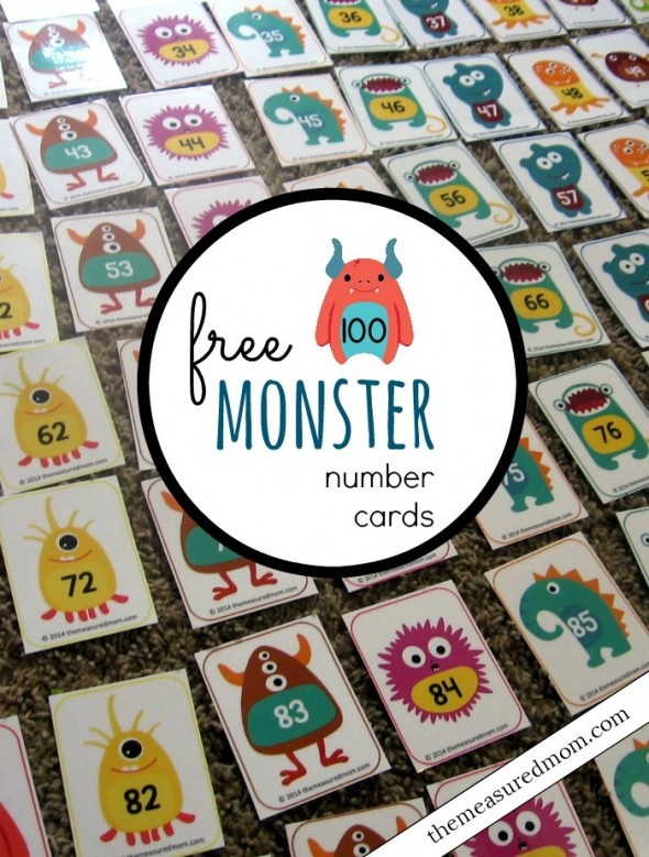 hundreds chart activities with these adorable (free) monster number ...