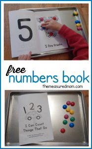 Free numbers book for kids ages 2-5