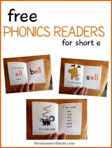 free phonics readers for short e