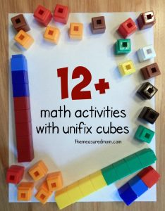 math activities with unifix cubes