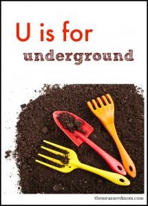 u is for underground