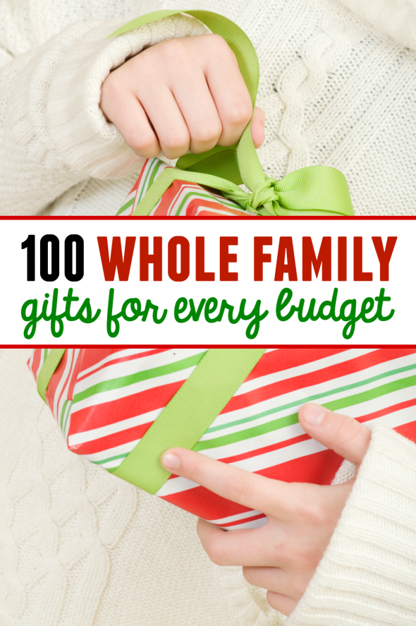 Looking for whole family gifts? These family gift ideas for Christmas have  something for every - 100 Family Gift Ideas - With Something For Every Budget! - The