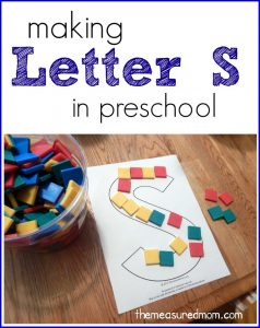 Making Letter S