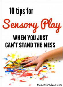 sensory play tips