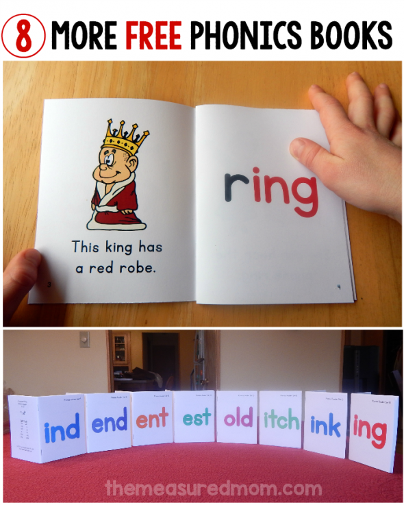 new phonics books ind end ent est itch ink ing