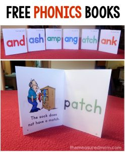 free phonics books from the measured mom