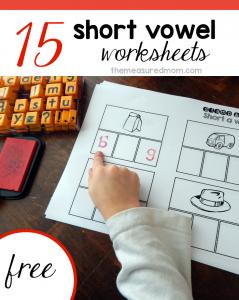 free short vowel worksheets 2