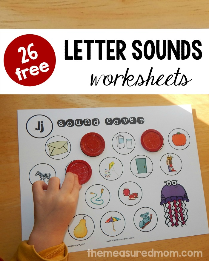 26 free beginning sounds worksheets - The Measured Mom