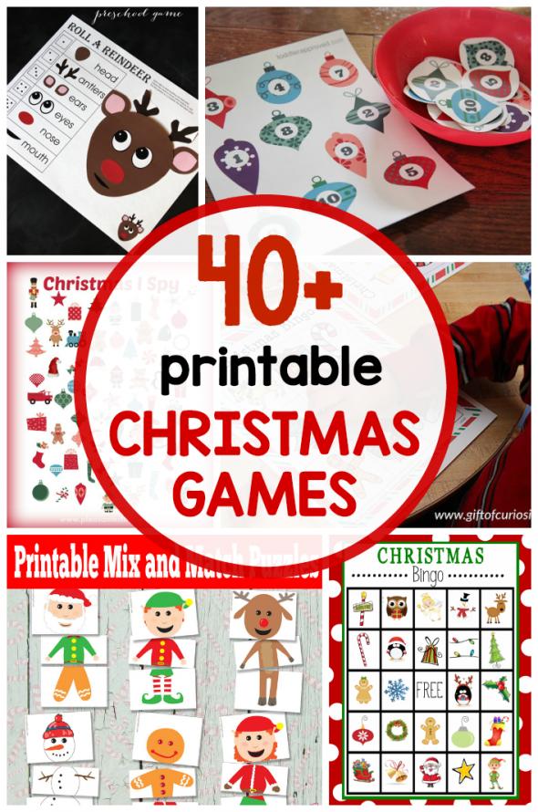 40+ Free Printable Christmas Games For Kids - The Measured Mom